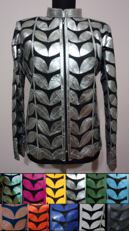Plus Size Leather Leaf Jackets for Womens [ Click to See Available Colors ]