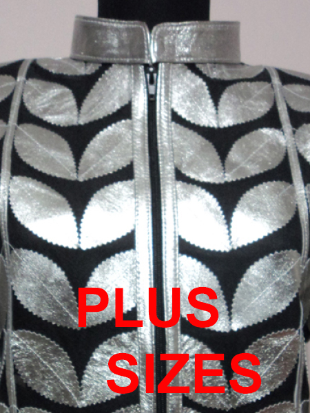 Click to See Available Colours of Plus Size Leather Leaf Jackets for Women Design 01 Genuine Short Zip Up Light Lightweight