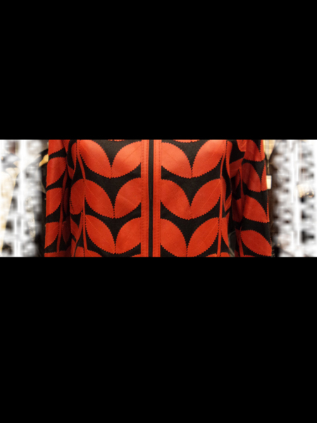 Red Leather Leaf Bolero for Women